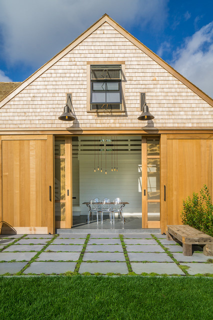Indoor-Outdoor Living Space - Country - Exterior - Boston ... on Houzz Outdoor Living Spaces id=86895