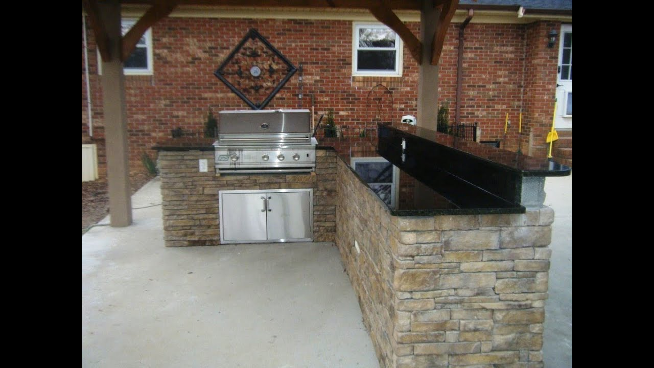 Outdoor Kitchen, Grill and Patio Ideas 5 24 14 - YouTube on Patio Grilling Area id=35793