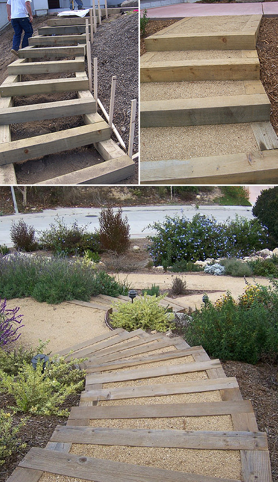Step by Step! : DIY Garden Steps and Stairs | The Garden Glove on Backyard Patio Steps id=59514