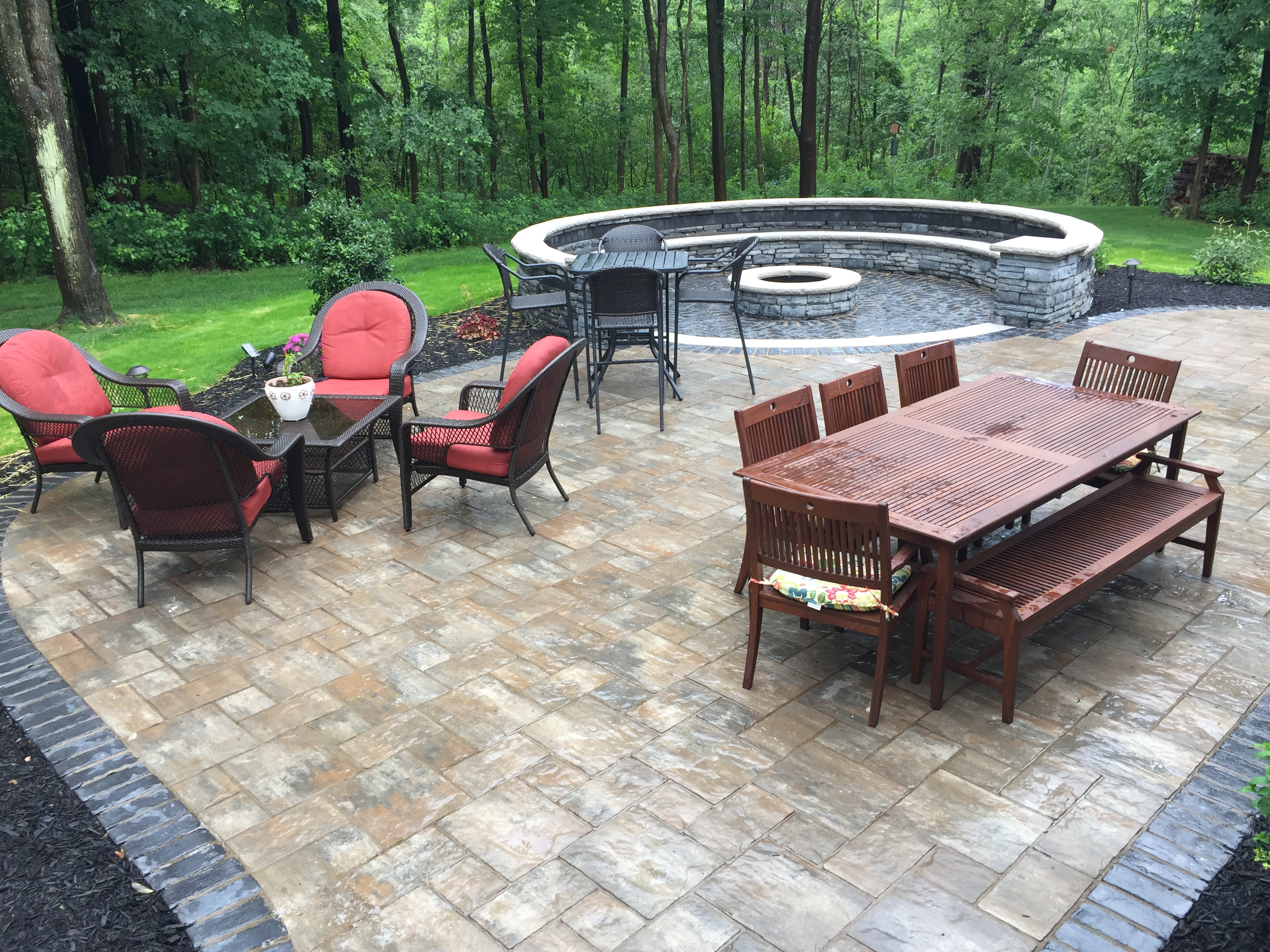 Paver Patio Backyard Stained Concrete Amazing Of Cheap ... on Deck And Paver Patio Ideas id=92584