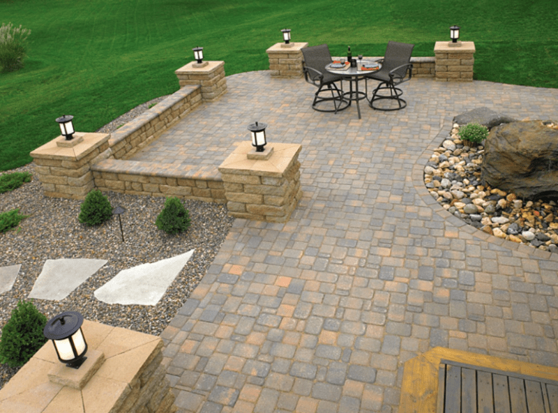 20+ Best Stone Patio Ideas for Your Backyard - Home and ... on Patio Stone Deck Ideas id=79454