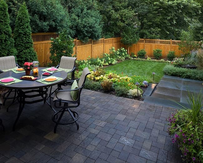 Design Ideas To Maximize Your Small Backyard   Salter ... on Small Backyard Layout id=36309