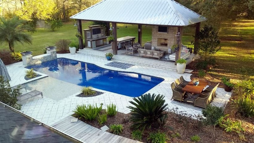 27 Exotic Pool Cabana Ideas (Design & Decor Pictures ... on Outdoor Kitchen With Pool Ideas id=25609