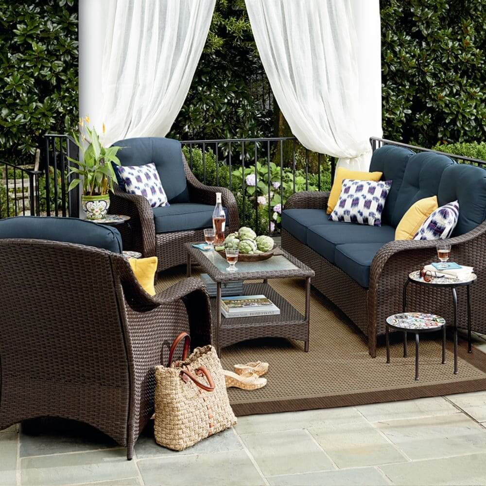 33 Best Outdoor Living Space Ideas and Designs for 2020 on Living Spaces Outdoor Sectional id=70747