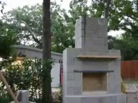 how to build an outdoor fireplace with cinder blocks ile ... on Outdoor Fireplace With Cinder Blocks id=14286