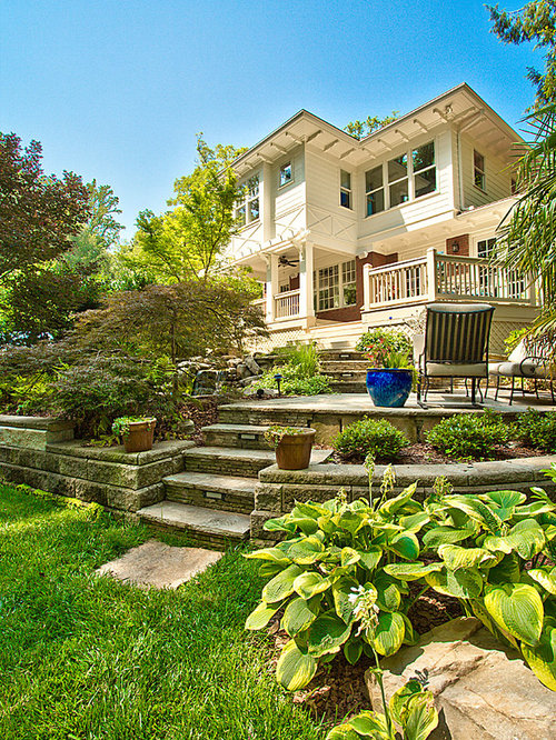 Two Tiered Backyard | Houzz on Tiered Yard Landscaping id=12985