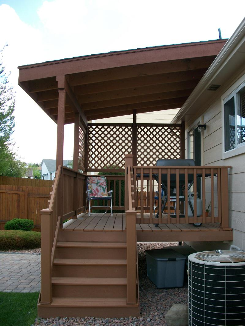 Deck Cover Ideas - HomesFeed on Patio With Deck Ideas id=33521
