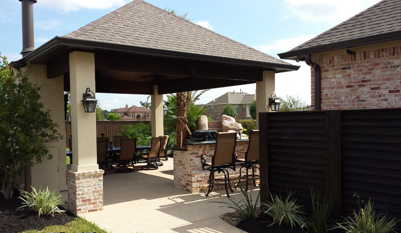 Outdoor Living Photos Houston | Outdoor Kitchen League City on Fancy Outdoor Living id=49185