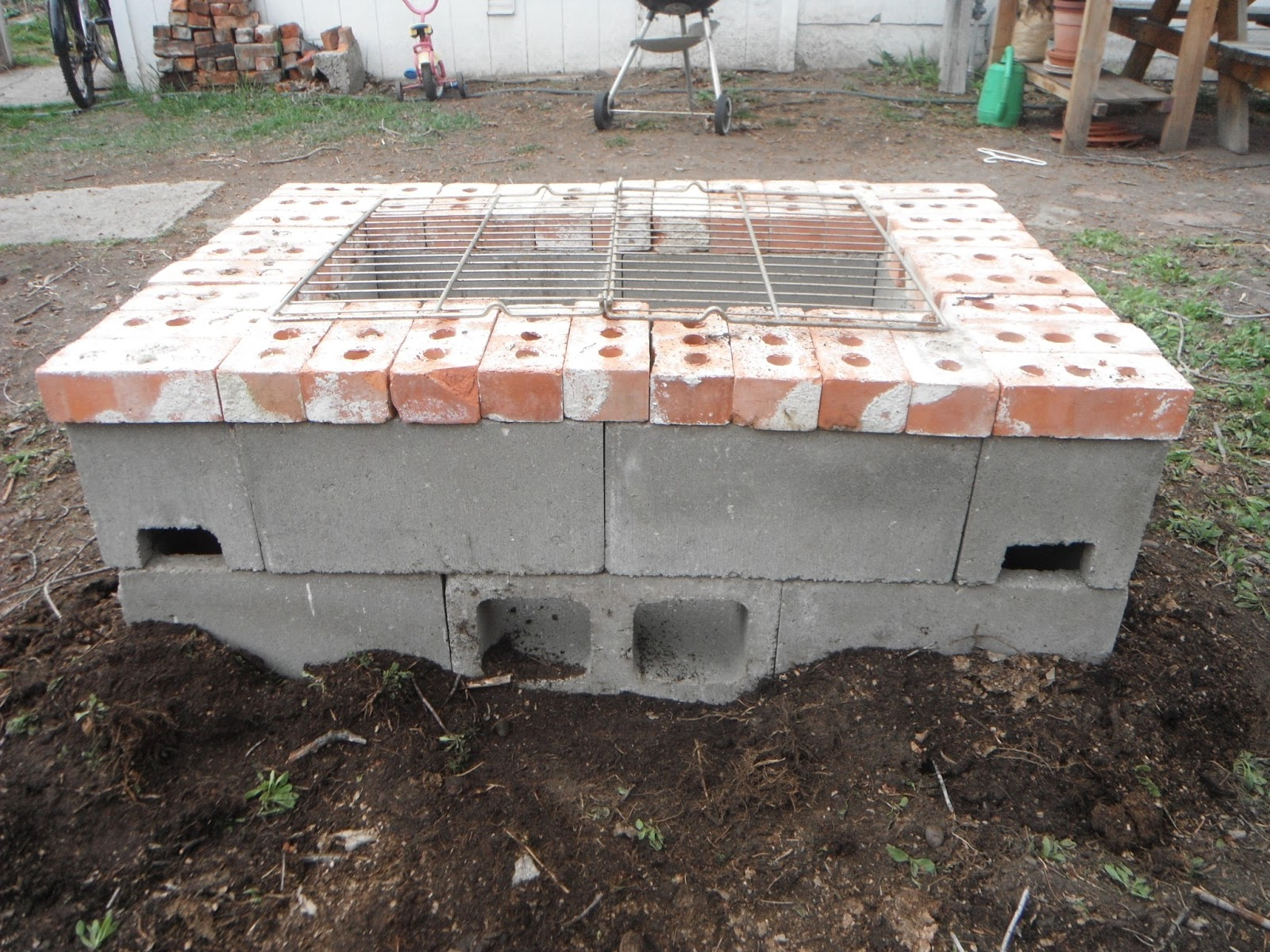 """Happy Occidents: """"I made that Mama!"""" aka Our New (DIY ... on Simple Cinder Block Fireplace id=88377"""