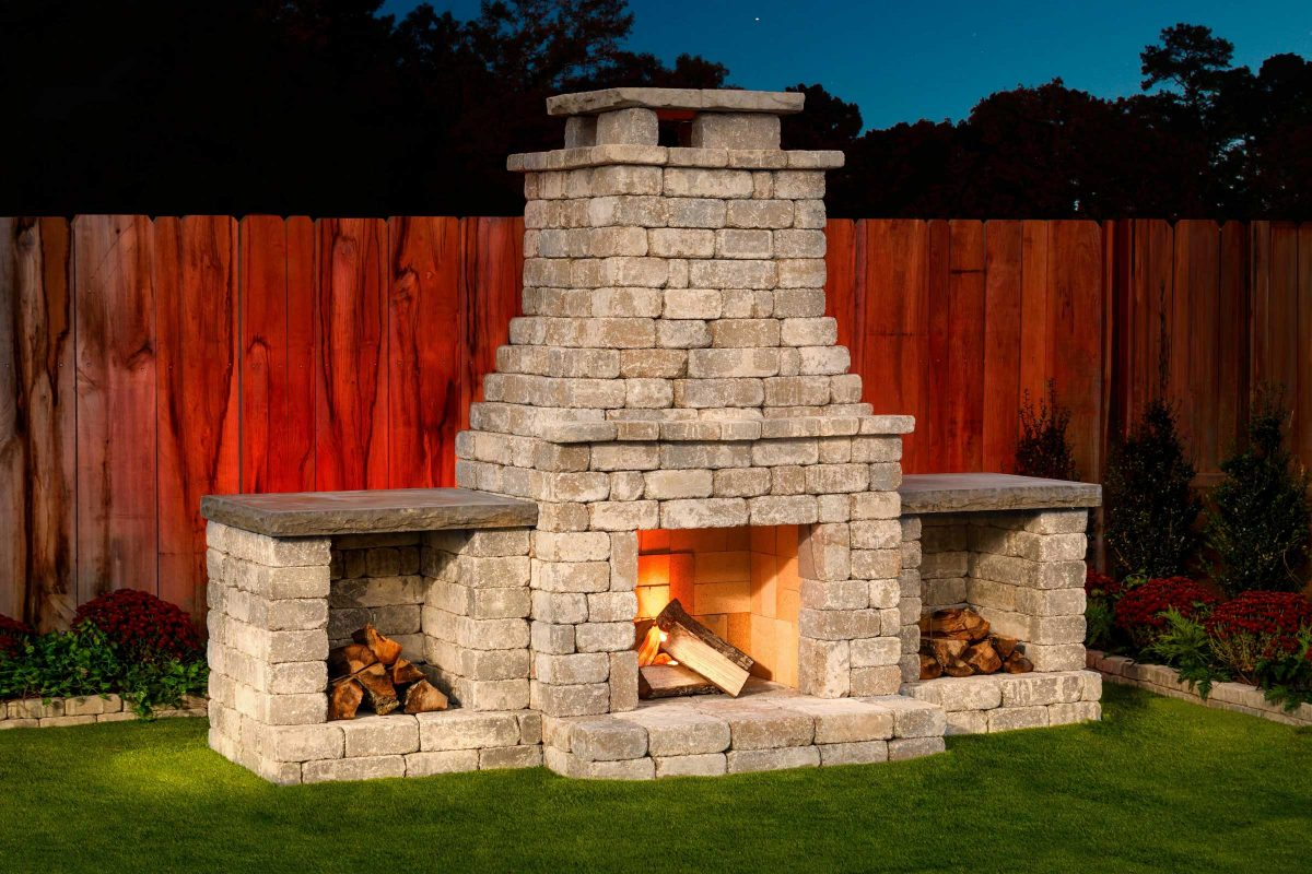 Fremont DIY outdoor fireplace kit makes hardscaping easy ... on Diy Outside Fireplace id=57100