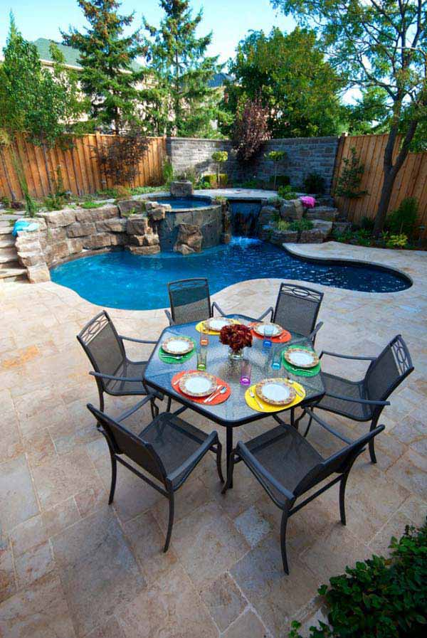 28 Fabulous Small Backyard Designs with Swimming Pool ... on Small Outdoor Yard Ideas id=98155