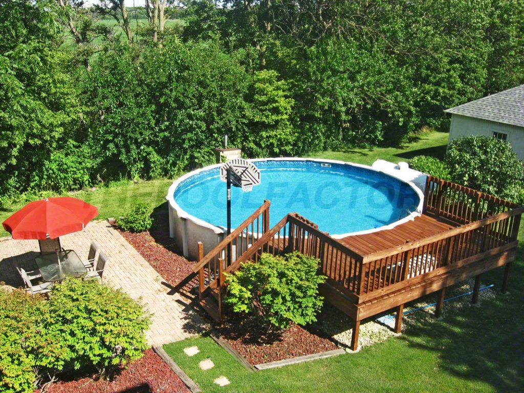 Pool Deck Ideas (Partial Deck) - The Pool Factory on Pool Deck Patio Ideas id=96725