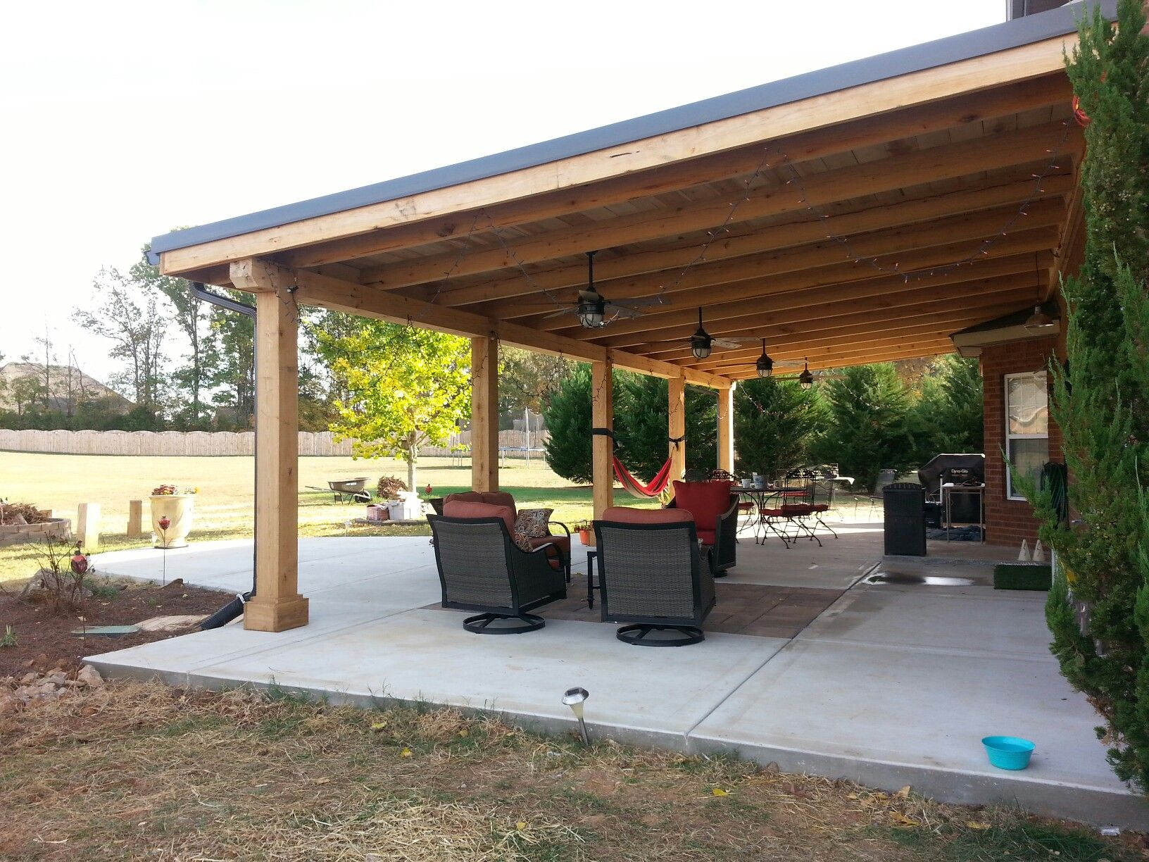 Don't love this so how could we avoid this look | Backyard ... on L Shaped Patio Ideas id=46852