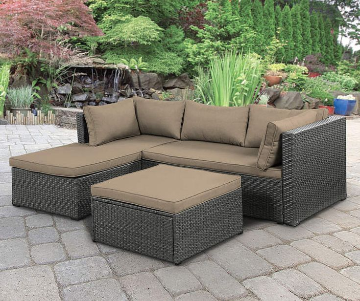 Wilson & Fisher Brook Gray All Weather Wicker Sectional ... on Outdoor Sectional Big Lots id=85407