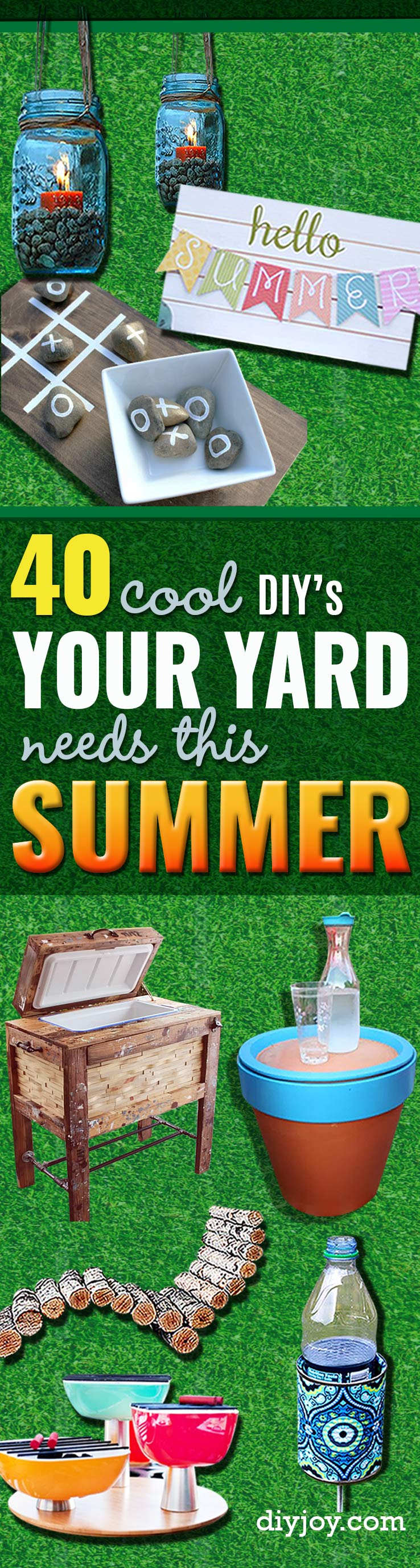 41 Cool DIYs to Get Your Backyard Ready for Summer on Cool Backyard Decorations id=88843