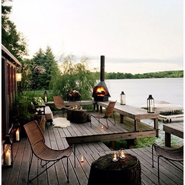 1000+ images about Gotta build a new lakefront deck on ... on Lakefront Patio Ideas id=23513