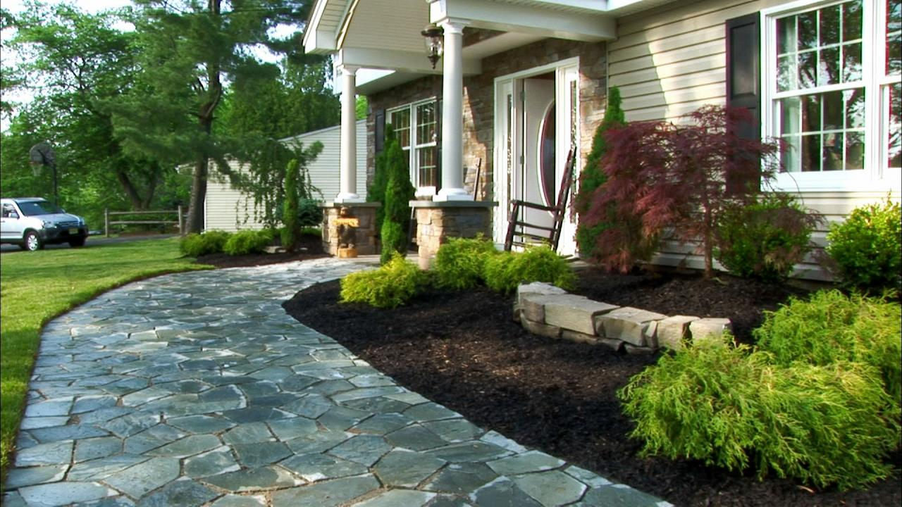 Paver Small Yard Patio Front Entry Doors Ideas And Options ... on Outdoor Front Yard Ideas id=78817