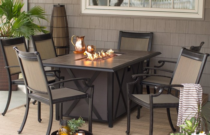Gas Fire Pit Tables Costco Outdoor Dining Table With Lowes ... on Outdoor Dining Tables With Fire Pit id=37211