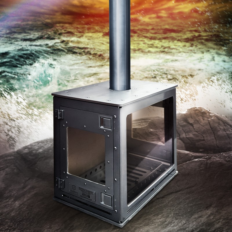 Vega Outdoor Fireplace Woodburner - Made in Britain on Outdoor Living Ltd id=95527
