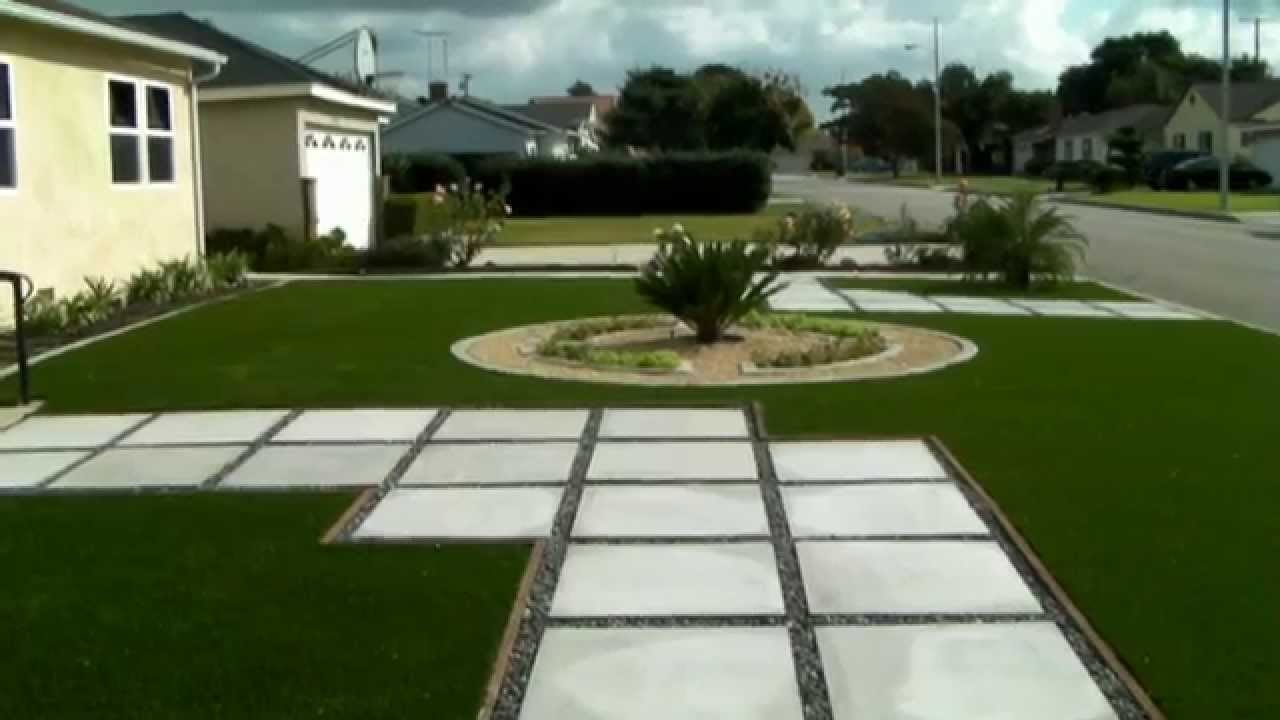 Landscaping ideas - front yard renovation - concrete curb ... on Backyard Pavers And Grass Ideas id=93928