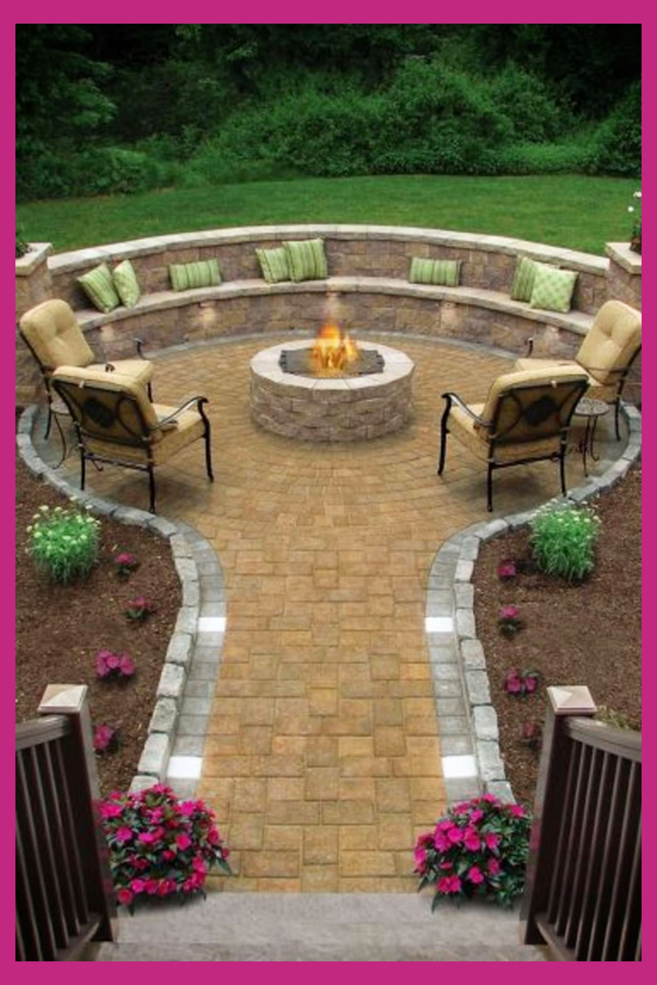 Backyard Fire Pit Ideas and Designs for Your Yard, Deck or ... on Backyard Patio With Firepit id=79772