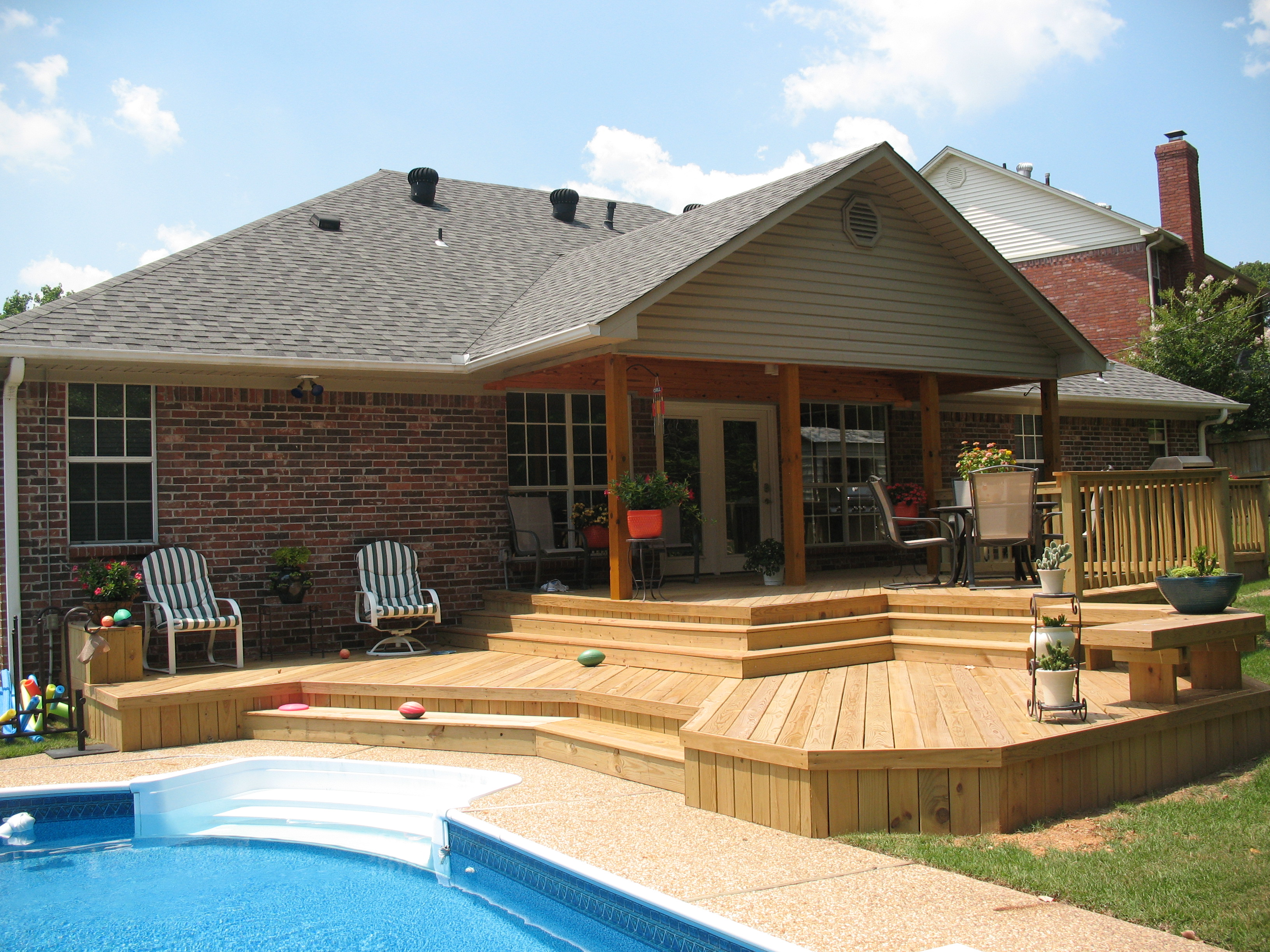St. Louis Mo: Back to basics with wood decks by Archadeck ... on Patio With Deck Ideas id=44192