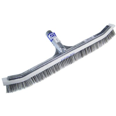 A&B 18 inch Curved Combination Wall Swimming Pool Brush 3004