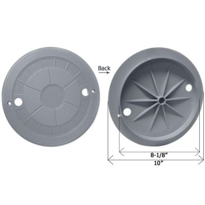 CMP Gray 10 in. Water Leveler Lid Cover 25504-001-010