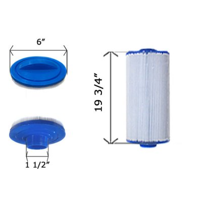 Cartridge Filter Top Load 6CH-75