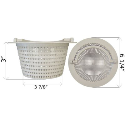 Pentair HydroSkim Pool Thru-Wall Skimmer Basket 11016 513330