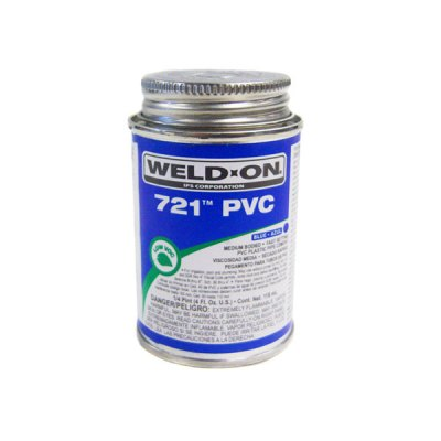 IPS Mendium Bodied PVC Glue Blue Weld-On 721 0.25 Pint 10849