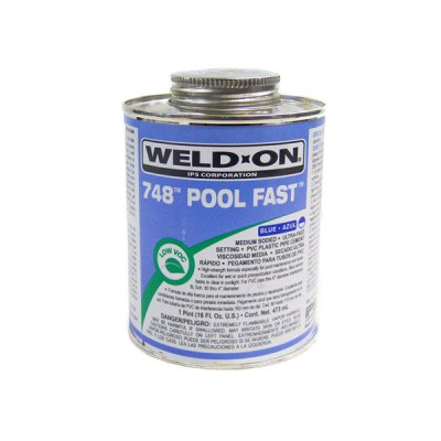 IPS Pool Fast PVC Glue Blue Weld-On 748 0.25 Pint 13654
