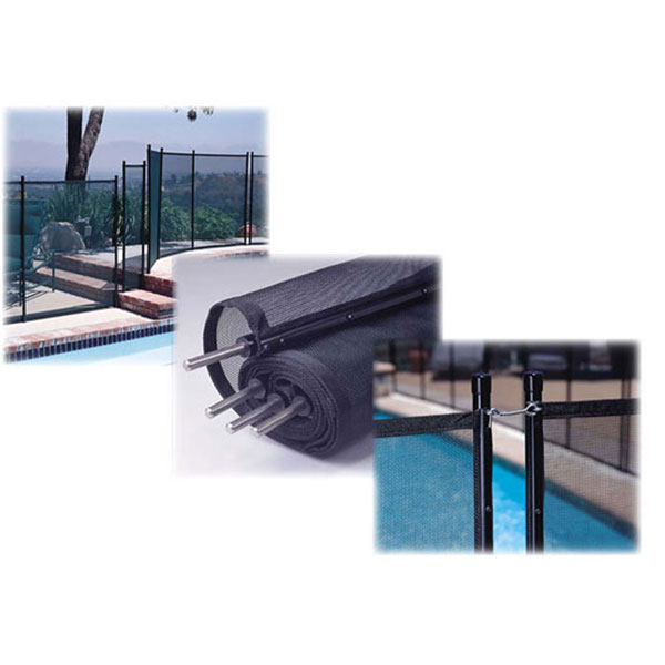 Pool GLI Swimming Pool Safety Fence 4 ft. X 10 ft. 30-0410-BLK