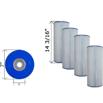 Quad Pack Cartridge Filter Hayward CX470XRE C-7447-4
