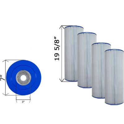 Quad Pack Cartridge Filter Hayward SwimClear C3025 C-7483-4