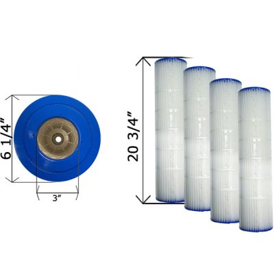 Quad Pack D.E. 60 Cartridge Filter Pentair 178654 C-6960-4