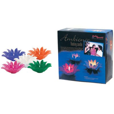 Swim Sportz Ambience Swimming Pool Floating Candle Orange MFC032