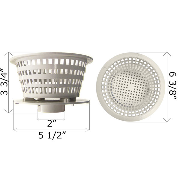 Waterway Basket Dyna-Flo Top Mount Skimmer Filter 500-2680