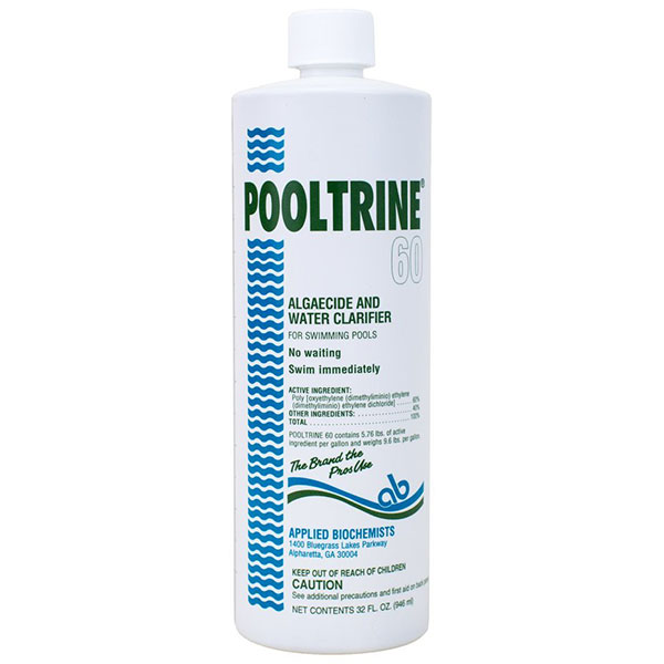 Applied Biochemists Pooltrine 60 Algeacide Clarifier 407303