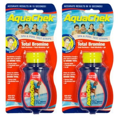 AquaChek Red 4-in-1 Total Bromine Pool Test Strips 521252A - 2 Pack