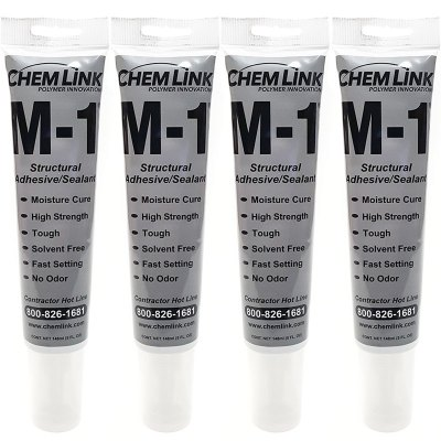 ChemLink  Adhesive  Sealer Multipurpose M-1 5oz. F1277WH - 4 Pack