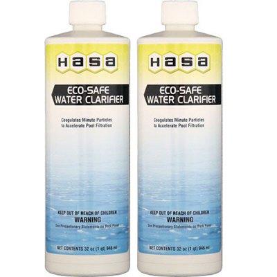 Hasa Eco-Safe Swimming Pool Water Clarifier 32oz. 80121 - 2 Pack