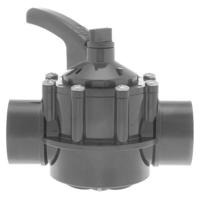 Hayward 2-2.5 in. PVC Diverter Valve 2 Port PSV2S2DGR