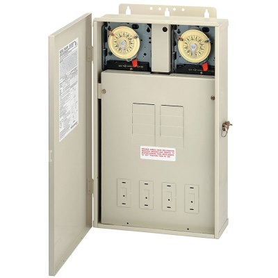 Intermatic Mechanical Timer Pool Control Panel 2 x T104M DPST T40404R