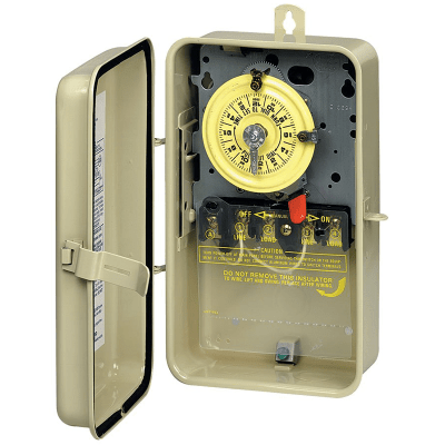 Intermatic Mechanical Timer In Metal Enclosure 208-277V DPST T104R3