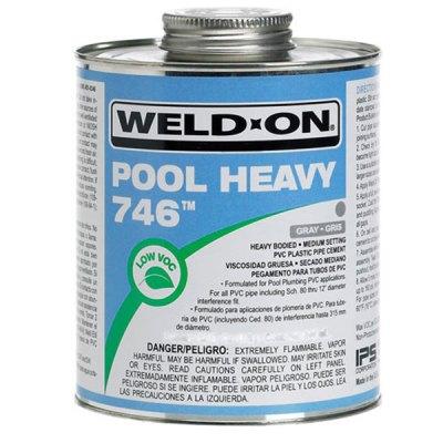 IPS Weld-On PVC 746 Pool Heavy Gray Glue 1 Quart 13567
