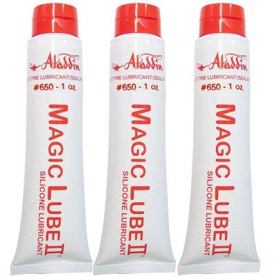 Magic Lube II 1 oz. Silicone Lubricant Sealant Aladdin 650 - 3 Pack
