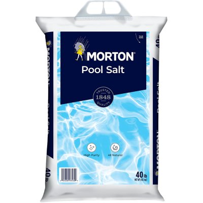 Morton Swimming Pool Chlorine Generator Salt 40lb.