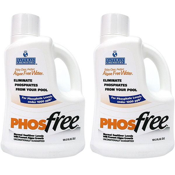 Natural Chemistry 3L Phosphate Remover PhosFree 05121 15121NCM - 2 Pack