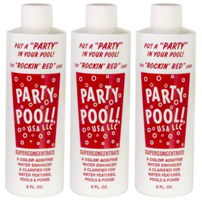 Party Pool Dye Color Additive Rockin Red 8oz 47016-00010 - 3 Pack